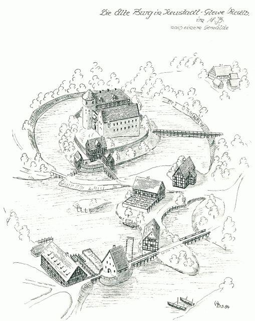 Old Castle Neustadt-Glewe 18 Century/Mecklenburg-Pomerania