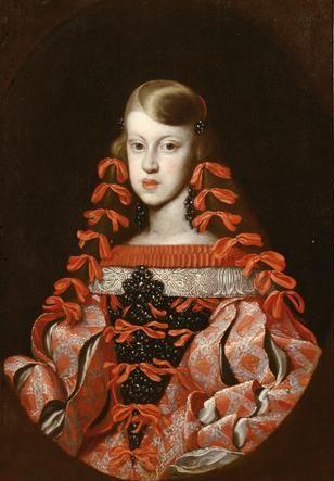 Infanta Margarita Teresa (c. 1662-1664), anonymous, Kunsthistorisches Museum, Vienna. | http://www.pinterest.com/pin/138837600984779311/