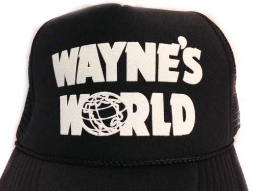 Wayne's World Hat Trucker hat Mesh Hat Snap Back Hat black SUPER FAST SHIPPING