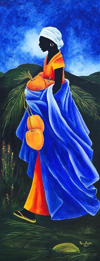 Haiti Painting - Season Coconut by Patricia Brintle