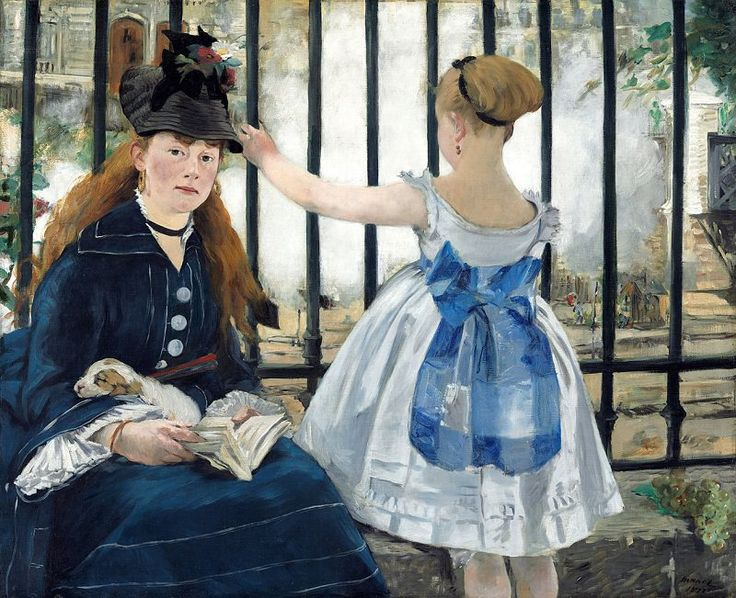 The Railway, 1873 by Edouard Manet                                                                                                                                                     More