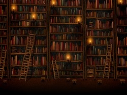 I've always wanted to visit a libray where you had to use a ladder. I'd probably die on it. But dying in a library would not be such a bad thing.