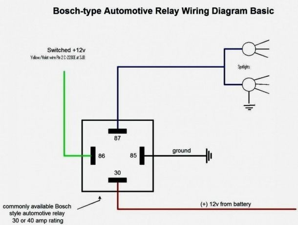 12v Relay Wiring Diagram 5 Pin | Diagram, Relay, Diagram ...