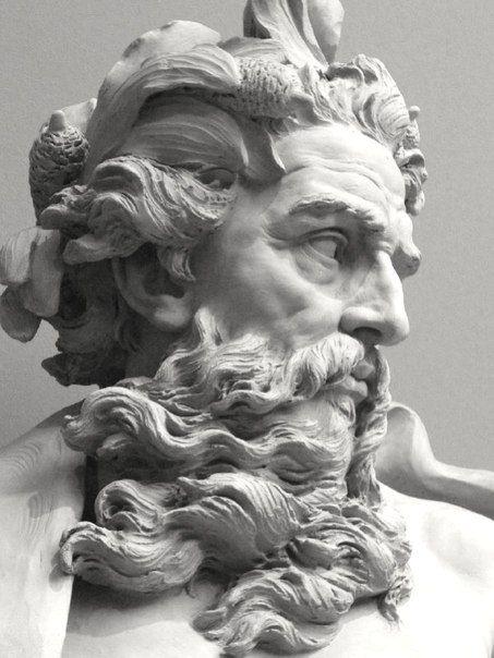 Lambert-Sigisbert Adam (1700-1759) Bust of Neptune, 1725 Los Angeles County Museum of Art, Los Angeles, California.