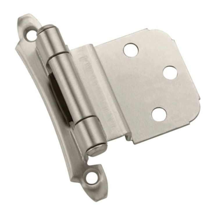 Amerock 0.38 in. Inset Face Mount Self-Closing Hinge - Set of 2 - A07