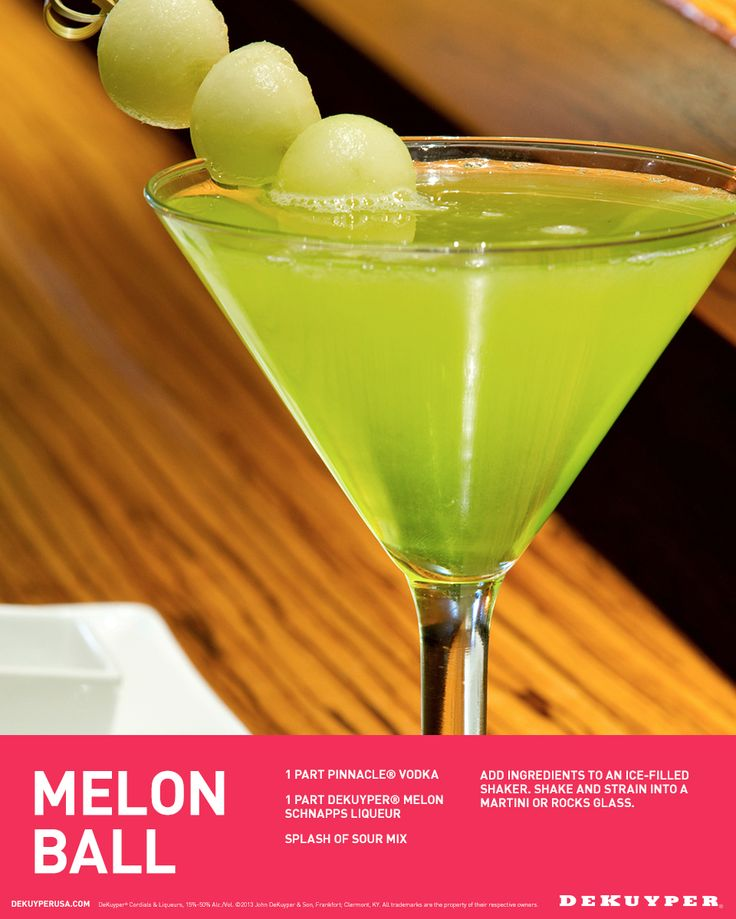 17 best images about spring fling cocktails on pinterest for What s in a melon ball drink