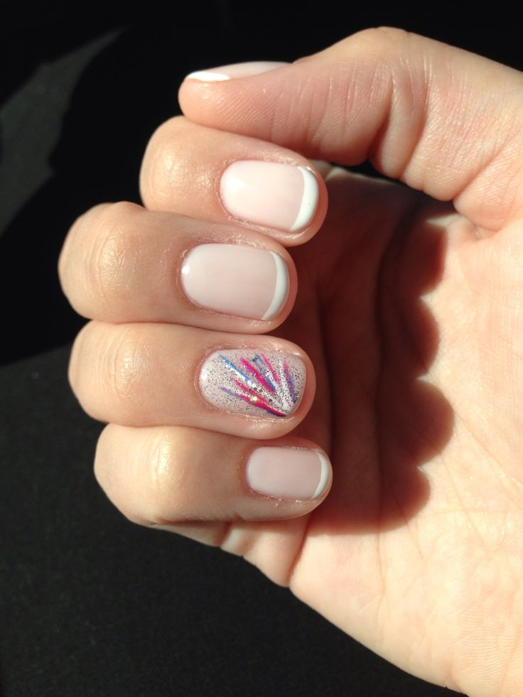 Christy C's Nails @sasssycc @aprilsnailz | French tip CND Shellac for a wedding...with my good ol accent finger :) gel nail design classy shellac nail art.  **Leave the credits and details as these are someone's nails!**