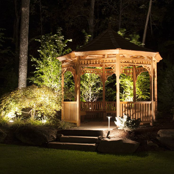 Landscape Lighting Turns This Gazebo Into A Perfect Nighttime Outdoor  Living And Entertaining Space: Fixtures