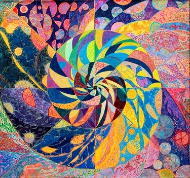 "Saatchi Art Artist Lola Lonli; Painting, ""Collapse of the Universe"" #art"
