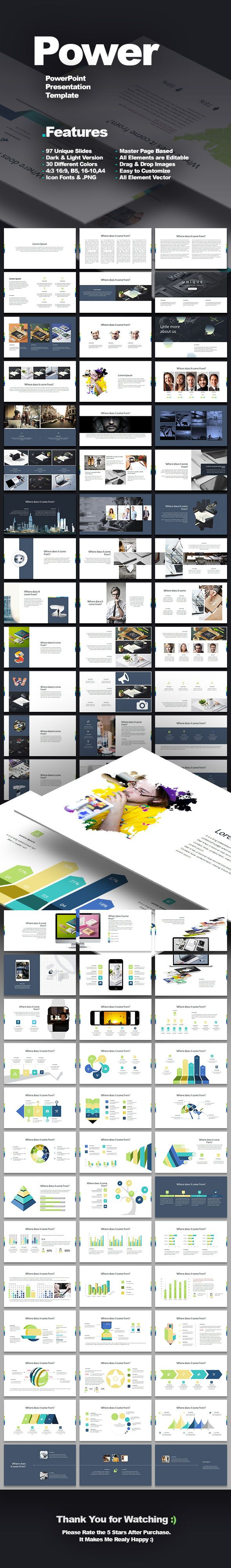 Power - PowerPoint Presentation Template 96+ Unique Slides