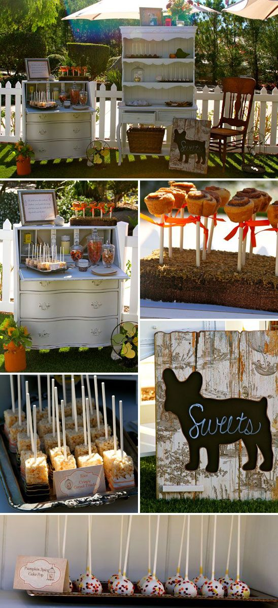 ideas for bridal shower brunch food%0A Mini cinnamon rolls on a stick  could even do rice krispy treats on a stick  too cereal is breakfast food