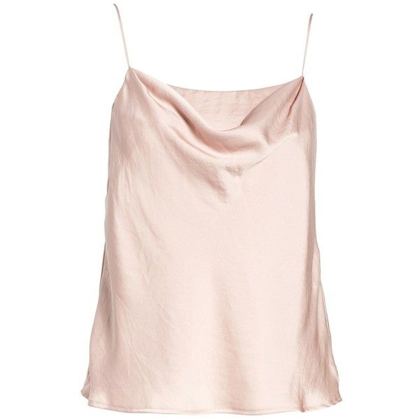 Women's Astr The Label Cowl Neck Tank ($27) ❤ liked on Polyvore featuring tops, pink cami top, cowl neck tank, pink cami, cami tank and pink camisole tops