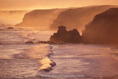 Coastal cliffs near city of Antofagasta