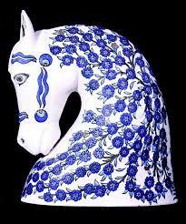 blue and white china head