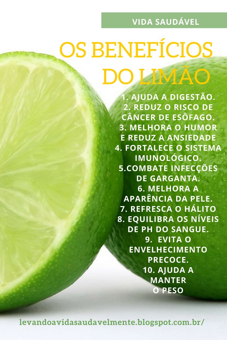 Os limões contem substâncias cítricas, calcio, magnésio,  vitamina C, bioflavenóides, pectina e limoneno que  promovem o sistema imunitário e combatem  infecções.