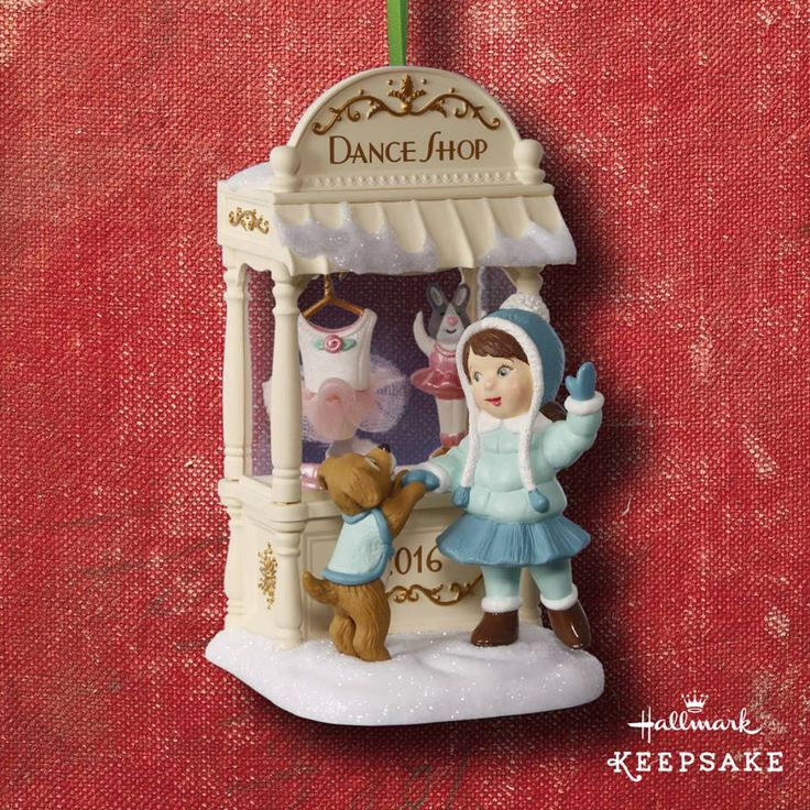 2016 member exclusive ornament, the 14TH in the Christmas Window Series by Nina Aubé.  Dance Shop.