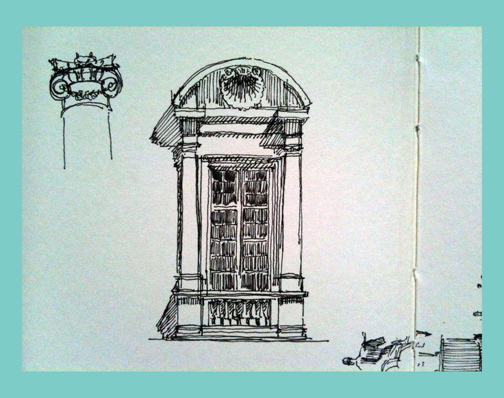 Campidoglio - sketch from notebook, ink