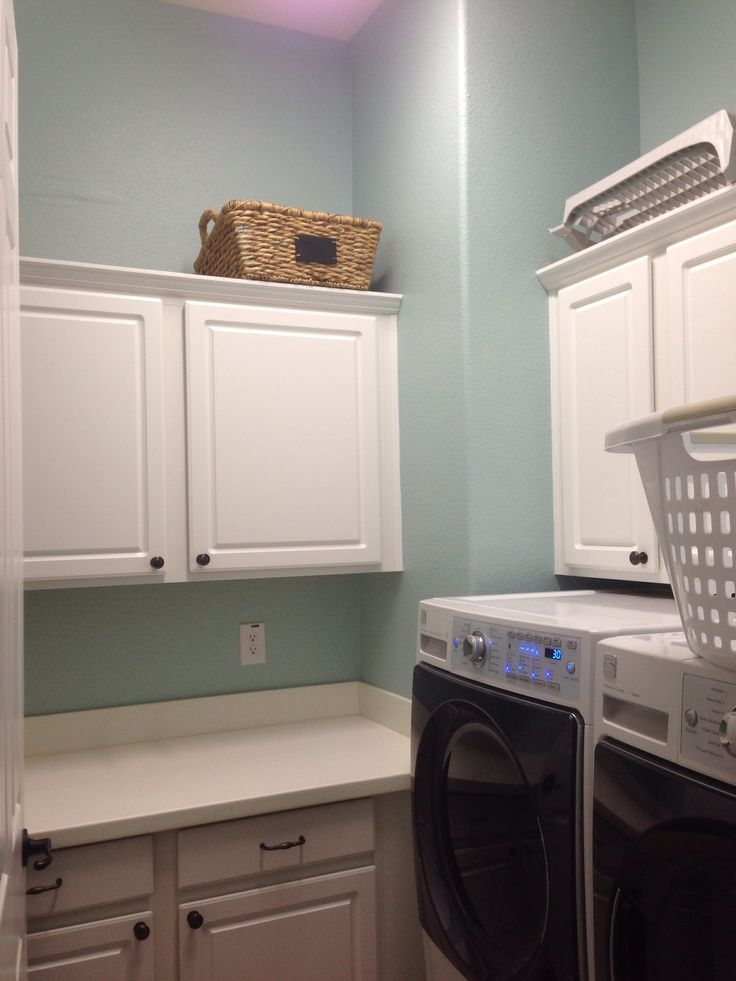 Watery By Sherwin Williams Is Such A Fun Utility Room
