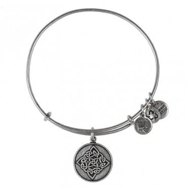 Connection • Community • Resilience Alex and Ani Celtic Knot Bangle in Rafaellan Gold