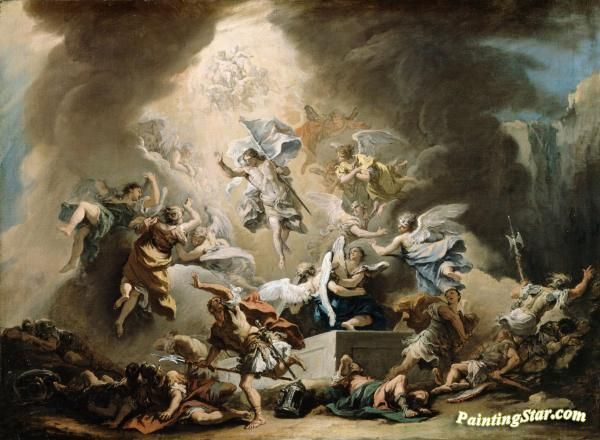 The resurrection Artwork by Sebastiano Ricci Hand-painted and Art Prints on canvas for sale,you can custom the size and frame