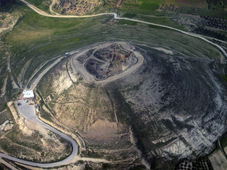 Aerial photo of Herodium from the southwest.