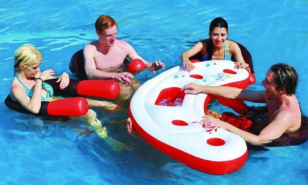 Quoi de mieux pour sa pool party que d'avoir un bar flottant pour piscine ?…