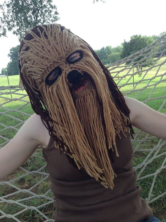 Chewbacca costume mask/ski mask by TaylorFour on Etsy                                                                                                                                                                                 More