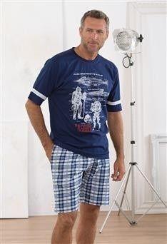 Pijama verano Massana modelo Moon. Con bolsillos en el pantalón... para el movil :-)