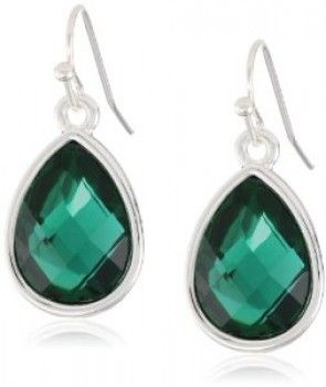 Nine West - Green Teardrop Earrings (worn by Sophie Kachinsky on 2 Broke Girls)