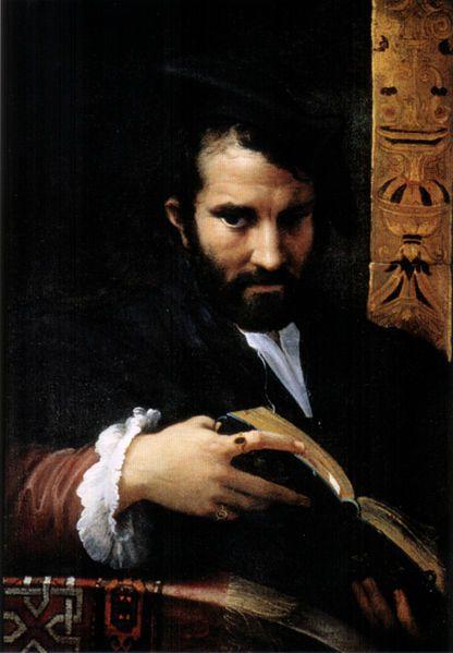 Πορτρέτο άνδρα με ένα βιβλίο