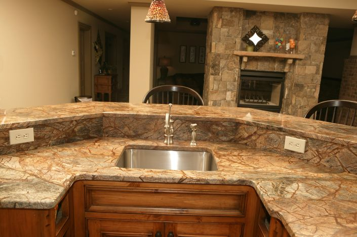 Boomerang Island Rainforest Brown Marble Countertops