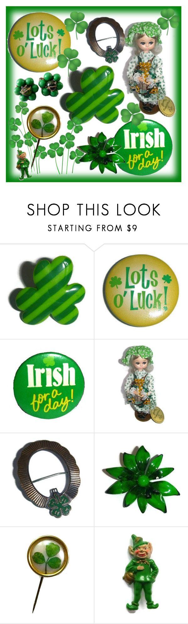 Vintage St Patrick's Day! 🍀💚☘ by popcornvintagebytann on Polyvore featuring vintage