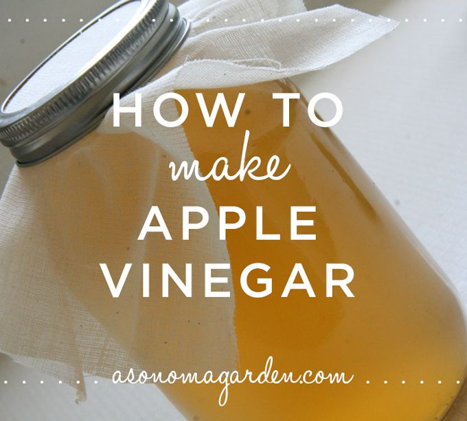 How to Make Apple Vinegar - a quick and easy tutorial you can do with leftover apple peels