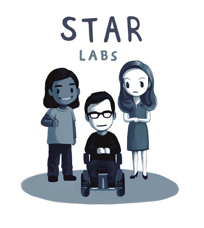 STAR Labs squad! Team Flash!