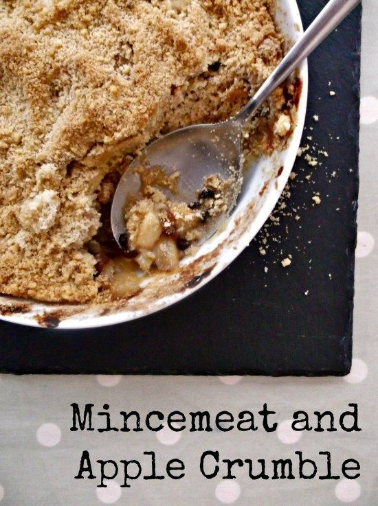 Mincemeat and apple crumble.