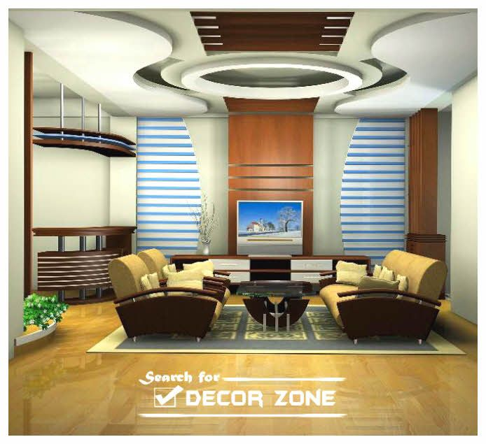 False Ceiling Design In Living Room Part - 27: 29 Best Living Room False Ceiling Design Ideas 2017 With Different Style,  Color, Lighting And Model. Making Your Room More Beautiful And Awesome