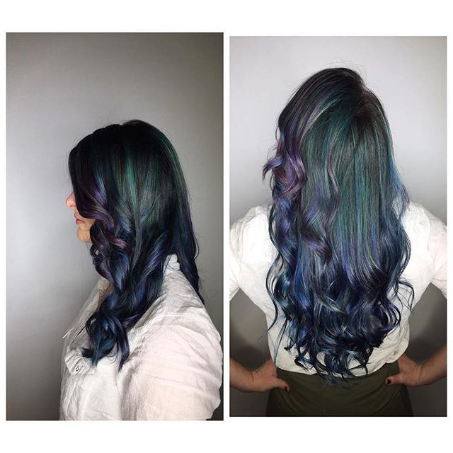 This cool #mermaid hair with #lust colour .  Repost via @mecahair 😍🙌🏽💆🏼 #lusthairnz #haircolouroftheday #hairgoals