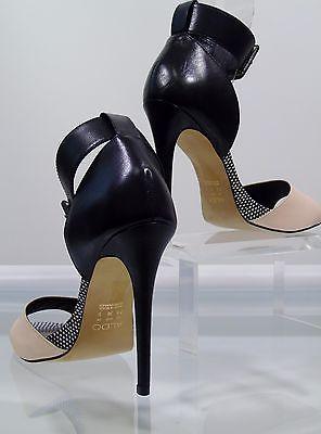 Aldo High Heels Peep Toe Ladies Shoes Party Pumps Ankle Strap Sandals Size 7.5