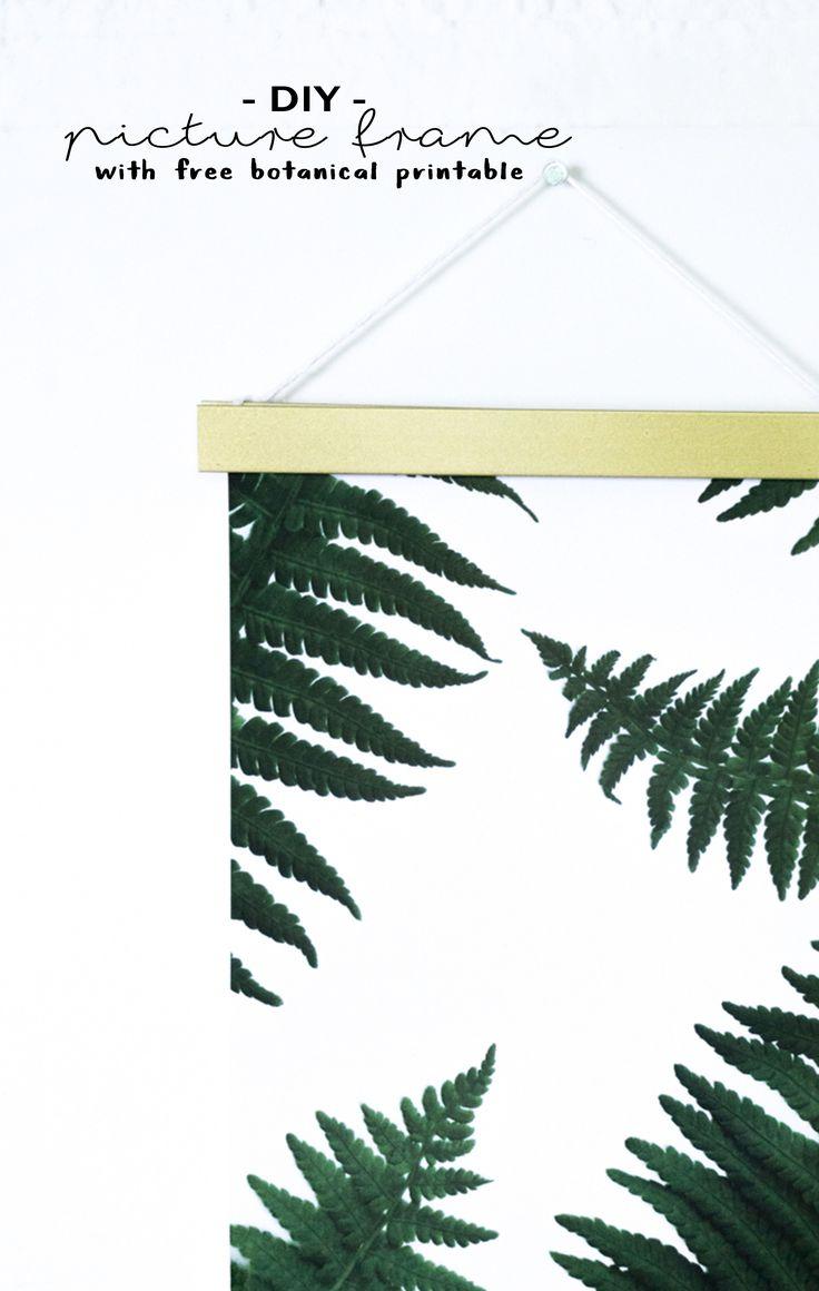 Kostenloser Print zum Download!   Ich zeige euch auf meinem Blog schereleimpapier, wie ihr als Geschenk zum Muttertag für ein Poster einen tollen magnetischen Bilderrahmen aus Metall in gold basteln könnt, den passenden Print mit floralem Farn Pflanzen Motiv gibt es als gratis Printable als Freebie zum Download dazu. Eine tolle grüne botanische Deko für jedes Zuhause und super als Geschenkidee für die Mutter! Dein Muttertagsgeschenk mit einer richtigen Portion Urban Jungle!    Do...