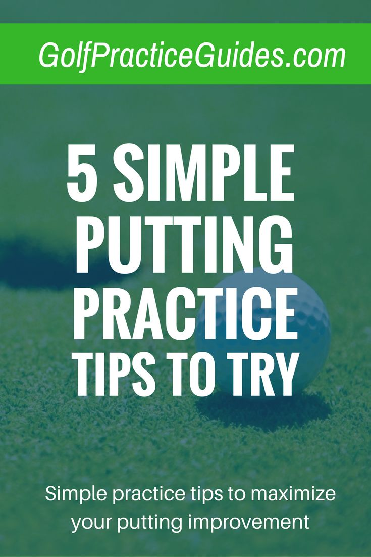 5 tips to work on your putting at the golf course and maximize your practice time. Try out these putting tips and see results in no time. Learn more about the golf short game, drills, and lessons, via our blog GolfPracticeGuides.com. Click to read today's post.