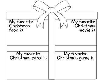 Christmas kids craftivity