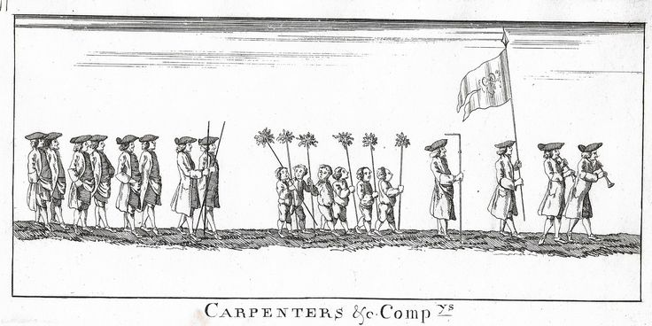 "Guild Merchants of Preston, Lancashire - 1822 - ""CARPENTERS & COMPANY"" - Heraldry Engraving"