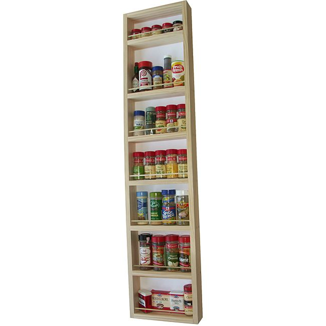 Keep Your Spices Neat And Organized With This Handy Spice Rack. It Features  A Durable