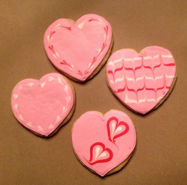 Pink valentine cookies | Rie-creations Cookies | Pinterest