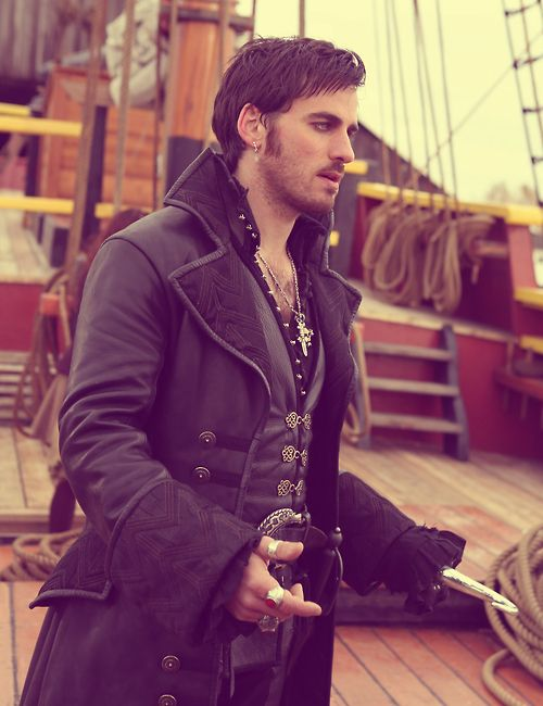 Colin O'Donoghue as Captain Hook on Once Upon A Time.... Come to the dark side, we have adorable Irish men. :3