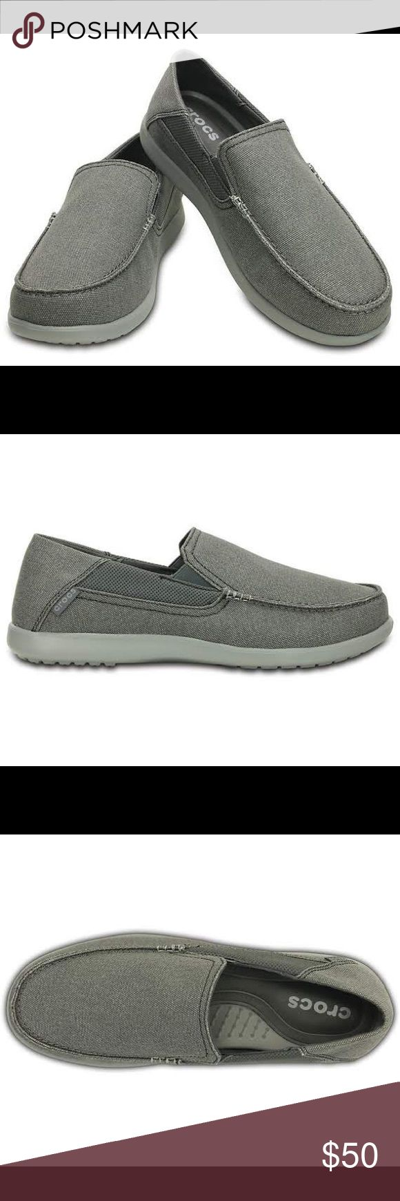 "Crocs Men's Santa Cruz 2 Luxe Loafer If you like that sink-into-it softness, this is the Santa Cruz for you. Feels soft, yet still has the ""bounce back"" of Croslite™ foam for all-day cushion. It's our softest footbed yet! Men's Santa Cruz 2 Luxe Loafer details: Laid-back Santa Cruz attitude with a more refined look Relaxed canvas uppers Our softest footbed yet: memory foam pillows on top of a Croslite™ foam base Sink-in softness, with the resilient bounce-back of Croslite™ material Comfort…"