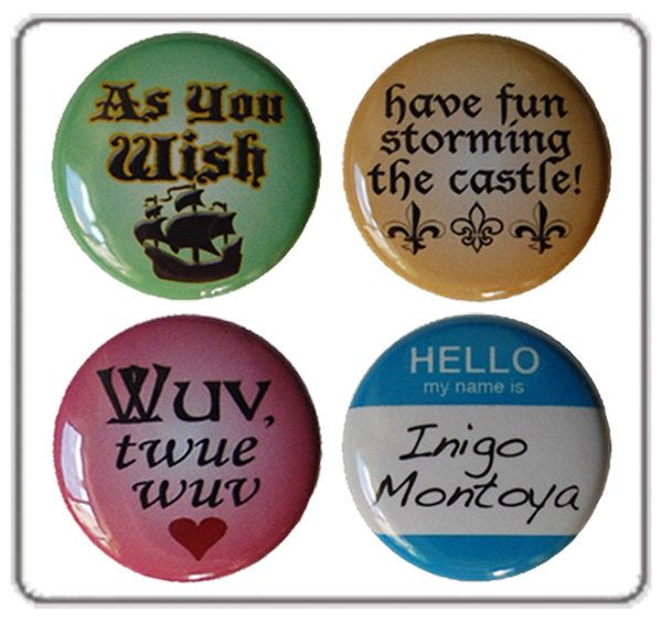 Princess Bride Magnets - set of four super strong magnets by tanyamadoff on Etsy https://www.etsy.com/listing/116322087/princess-bride-magnets-set-of-four-super
