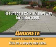 Quikrete - driveway resurfacing and crack repair