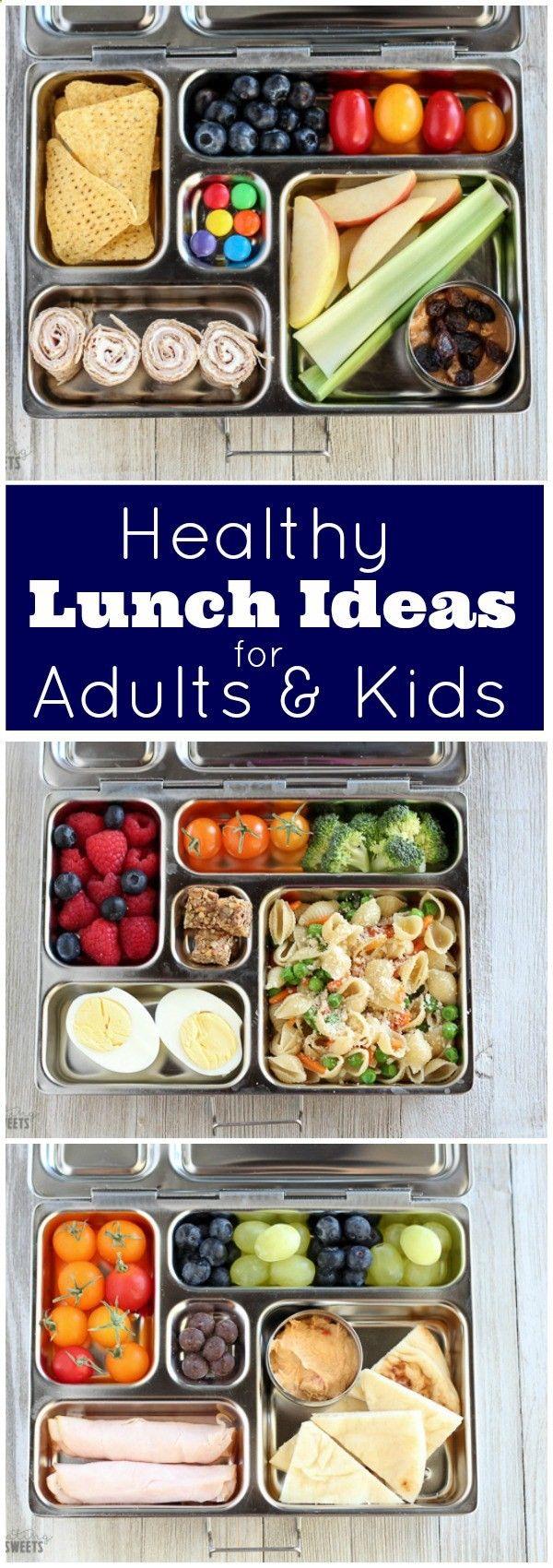 Ideas para almuerzos saludables para niños y adultos