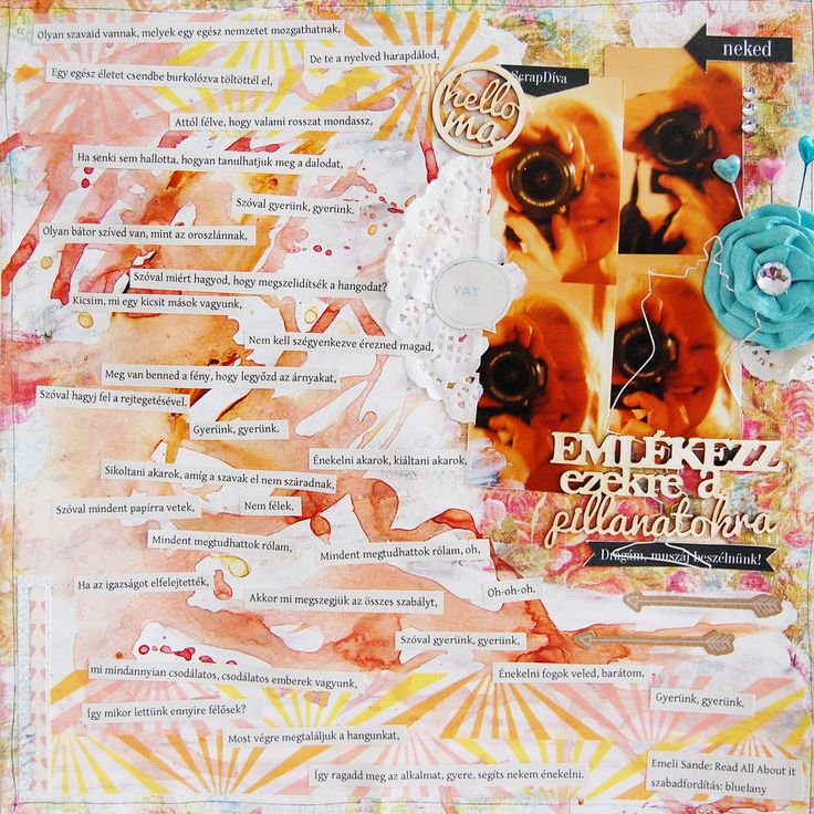 scrapbook layout, inspired by Emeli Sande's Read all about it song